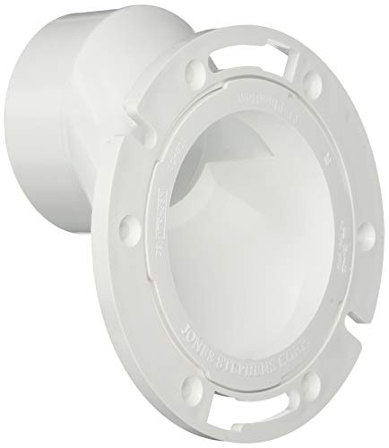 PlumBest C54402 3-Inch by 4-Inch PVC Offset Closet Flange with Plastic Swivel Ring Less Knockout