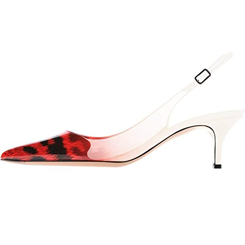 Pictures of MAVIRS Kitten Heels Pumps Pointed Toe Slingback LY0704C 6