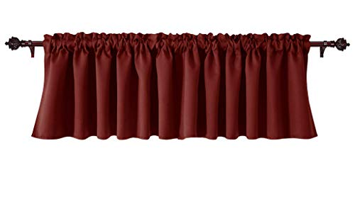 Eagle Home Store Decorative Polyester Window Valances Solid Burgundy Gathered Style (56