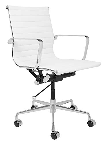 SOHO Ribbed Management Office Chair (White), used for sale  Delivered anywhere in USA