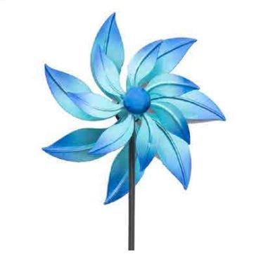 'The Ocean' Blue Metal Windmill - Beautiful Garden Ornament Black Country Metal Works
