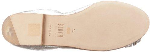 Bloch Raphaela BL 449 - Bailarinas de cuero para mujer Plateado