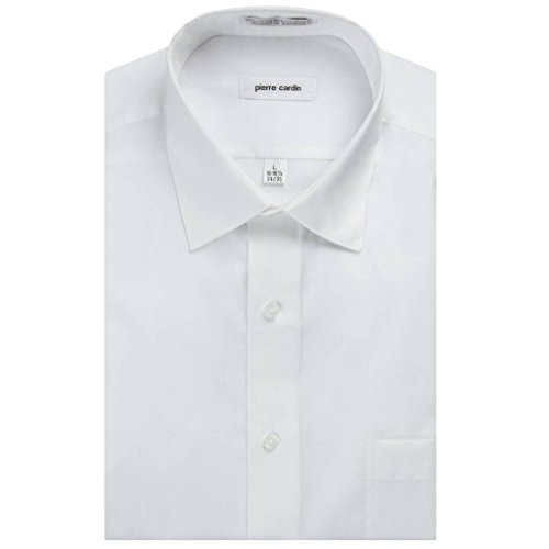 Pierre+Cardin+Men%27s+Regular+Fit+Long+Sleeve+Solid+Dress+Shirt+-+White+-+16.5+4-5