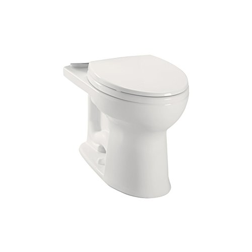 Toto C454CUFG-11 Drake II Colonial White Elongated Chair Height Toilet Bowl