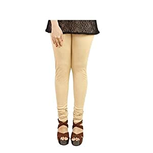 Ezee Sleeves Women's Cotton Leggings Combo/Legging for Women (Skin, Black, Red & White).