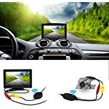 Wireless Backup Camera and Monitor Kit,Wide Angel HD Night Vision Waterproof Rear View Camera Parking Assistance System with 5 inch LCD - Rear View Backup Camera System