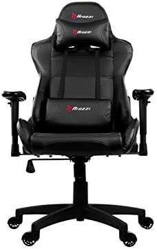 Arozzi Verona V2 Advanced Racing Style Gaming Chair with High Backrest, Recliner, Swivel, Tilt, Rocker and Seat Height Adjustment, Lumbar and Headrest Pillows Included, Black 31mYy4ncweL