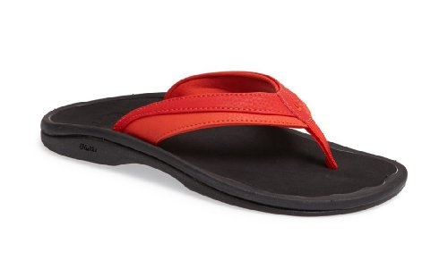 OLUKAI Women's Ohana Sandal, Tigers Blood/Ice, 5 M US ()
