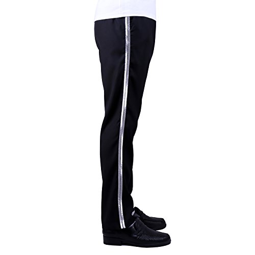 Michael Jackson Costume Billie Jean Pants/Trousers/Silver Stripe/30W