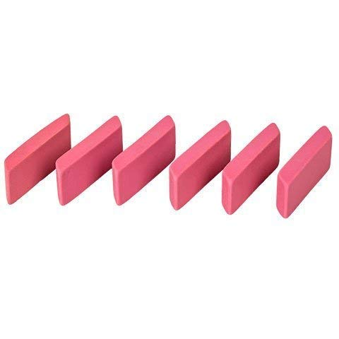 (Pink Beveled Erasers, (6-ct.Pack))