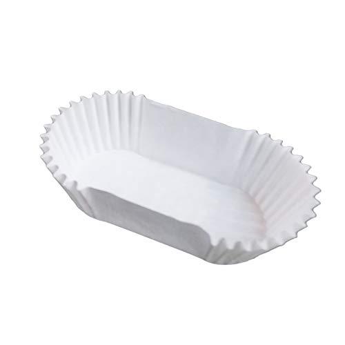Lumanuby Einweg Cupcakef/örmchen Hausgemacht B/äckerei oder Konditorei /Ölbest/ändig Papier Material 7x3.2cmx2.5cm Wei/ß Oval Muffin Papierf/örmchen Set von 1000 St/ück f/ür Muffin oder Kuchen