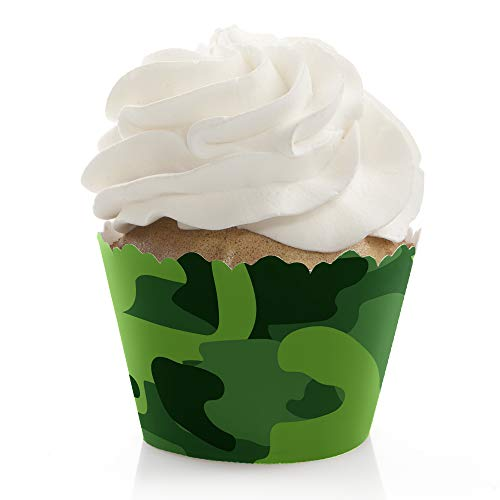 - Camo Hero - Army Military Camouflage Party Decorations - Party Cupcake Wrappers - Set of 12