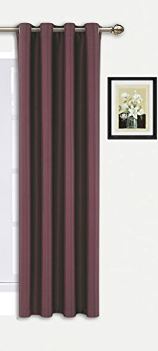 Ifblue Best Room Darkening Thermal Insulated Grommet Window Curtains -Blackout Curtains Drapes for Bedroom Living Room Kids Room-1 Panel 52 X 63 Inch Burgundy