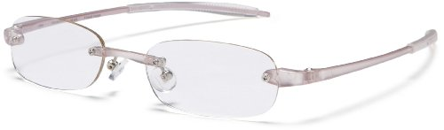 Visualites 205 Oval Reading Glasses,Pearl Frame/Clear Lens,2.00 Strength,48 mm