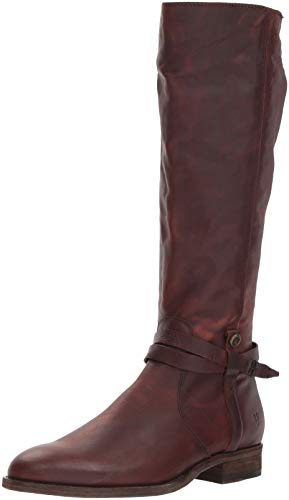 FRYE Women's Melissa Belted Tall Knee High Boot, Redwood
