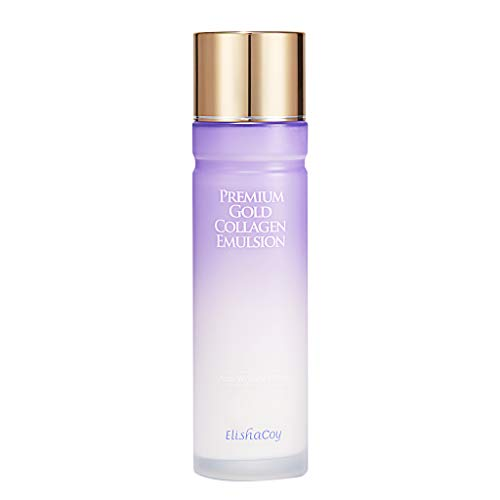 [EC ELISHACOY] Premium Gold Collagen Emulsion 140ml (4.73 fl.oz.) - Luxurious Firming & Hydrating Skin Care Facial Emulsion, Containing Royal Jelly and Hyaluronic Acid Nourishing Care