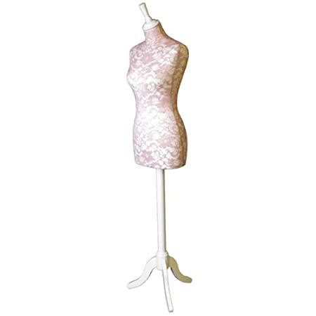 Arts & Crafts Home & Kitchen The Shopfitting Shop Size 16 Female WHITE Dressmaking Mannequin Tailors Bust Dressmakers Display Dummy on a stylish WHITE Wooden Tripod Base