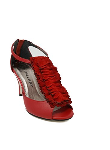 from red Red Chillany heeled High in leather from Classy sandals qPBpwSxzt