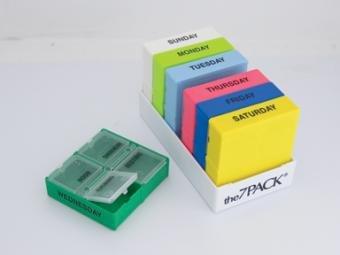 """7-Pack Pill Organizer 4-5/8"""" x 2-3/8"""" x 1-1/8"""" 70034 Qty 1"""
