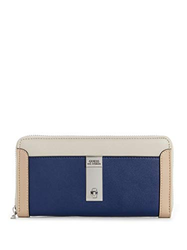 Guess Factory Women's Marvelous Print Zip Around Logo Wallet ()