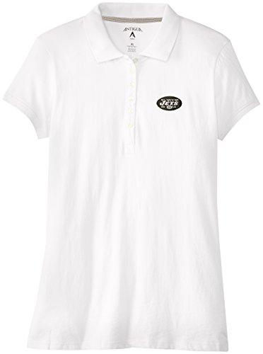 - Antigua NFL Women's New York Jets Spark Short Sleeve Polo (White, Large)