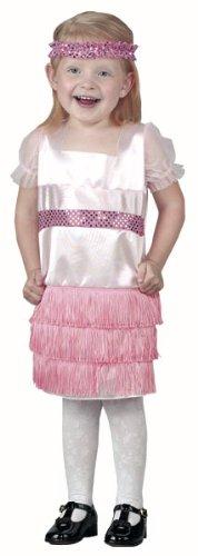 Childs Toddler Flapper Dress Halloween Costume (2-4T)
