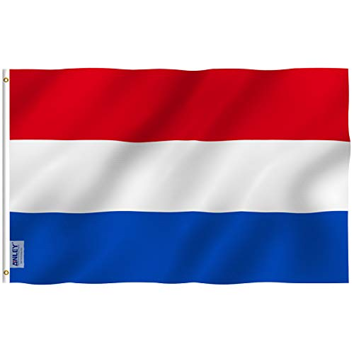 Anley [Fly Breeze 3x5 Foot Netherlands Flag - Vivid Color and UV Fade Resistant - Canvas Header and Double Stitched - Holland National Flags Polyester with Brass Grommets 3 X 5 Ft