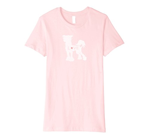 Womens Vintage Wash Chinese Crested LOVE T Shirt XL Pink