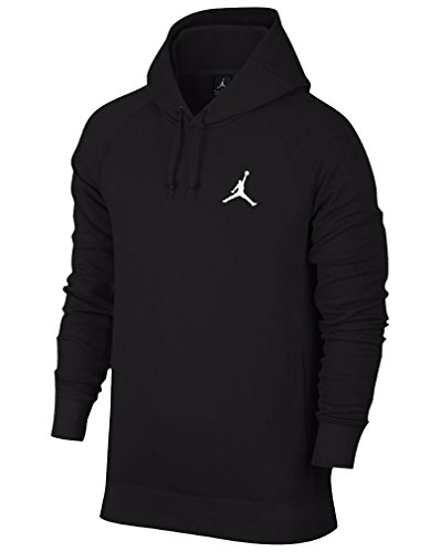 Nike mens Jordan Flight Pullover Hoodie 809453-010_S - Black/White by Jordan