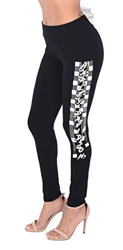 - Harley-Davidson Womens Speed Thrills Flocked Graphics Black Leggings (X-Large)