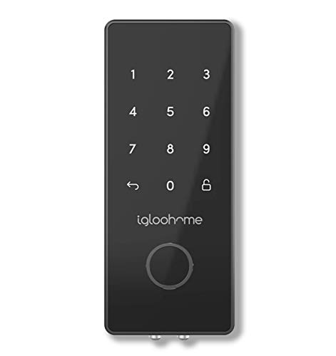 Igloohome Smart Electronic Deadbolt 2S, Grant & Control Remote Access with Pin Code - Touch Screen Keypad with Built-in Alarm - Bluetooth Enabled Works Offline (Metal Grey) (Electronic Remote Deadbolt)