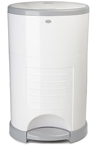 Dekor Mini Hands-Free Diaper Pail, White