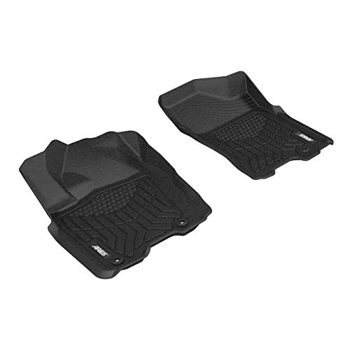 Rubber-like Compound Intro-Tech TE-101-RT-G Hexomat Front Row 2 pc Gray Custom Fit Auto Floor Mats for select Tesla Model S Models