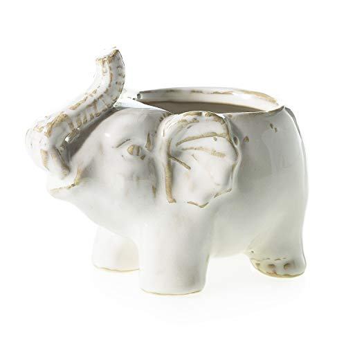 (AC Decor Mini Ceramic Elephant Planter, 5