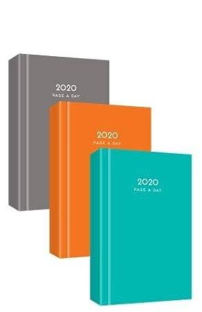 MantraRaj 2020 - Agenda de 2020, tamaño A4, para el día a día, para oficina, hogar, viajes, organización, citas, color naranja