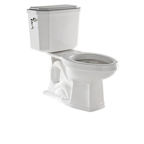 Rohl U.KIT132-PN Deco 1.6 GPF Elongated Toilet with 12'' Rough in and Flush Lever, Polished Nickel by Rohl