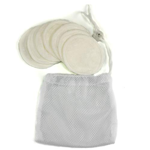 - Reusable Makeup Remover Pads Cloth   Organic Bamboo Velour   Set of 7   With Laundry Bag