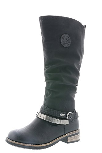 Rieker Damen Klassische Stiefel 94661,Frauen Boots,Langschaftstiefel,Blockabsatz 3.5cm