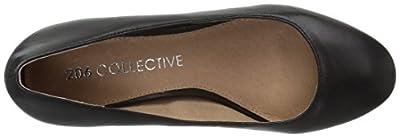 206 Collective Women's Merritt Round Toe Block Heel Pump-Low