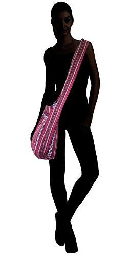 Delrosaria Bag Boho Crossbody Tribe Dark Multicolored Red Sling Collection 44RqH
