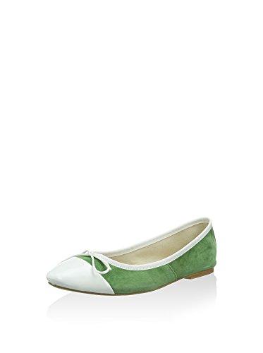 CAFèNOIR Qdf521, Bailarinas para Mujer Verde Menta