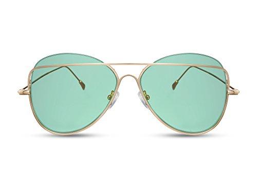 Dorado de Gafas Espejadas Hombres Piloto Diseñador Mujeres Gafas 400 Cheapass 037 UV Metálicas Sol Ca Aviador wC5aqUnAqZ