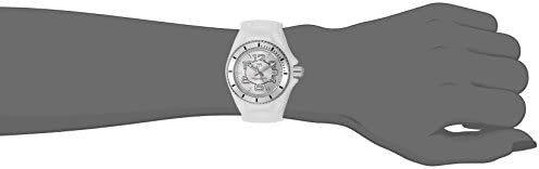 Invicta Women's Cruise Jellyfish Stainless Steel Swiss-Quartz Watch with Silicone Strap, White, 22 (Model: TM-115124)
