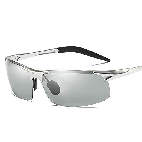 JL Polarized Photochromic Lens Sunglasses Photosensitive Sunglasses for Men Sports Driving Cycling Running Fishing Golf Unbreakable Metal Frame Ultra ()