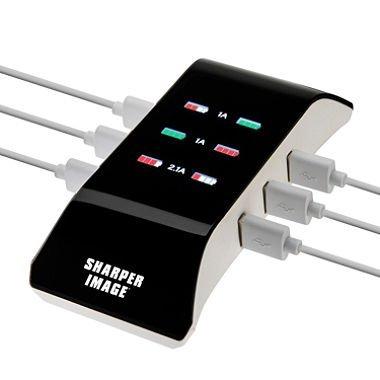Amazoncom Sharper Image Visual Charge 6 Port Usb Charging Hub