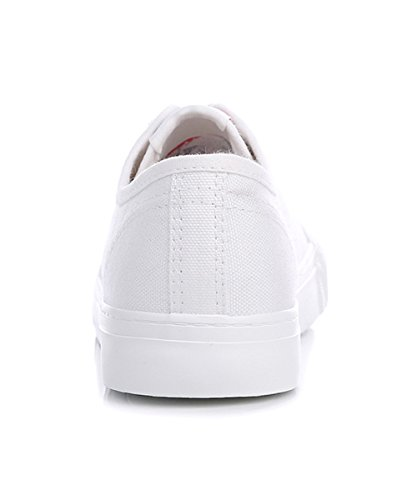 Sneaker Renben Low Top Fashion Slip Canvas Womens Sneakers Z Flat White on Shoes rwnCrqzSx1