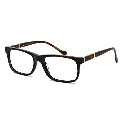 OCCI CHIARI Men Rectangle Stylish Eyewear Frame With Clear Lens ()