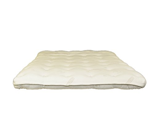Heavenly 4-inch Latex and Wool Mattress Topper (Full) by BIO SLEEP CONCEPT