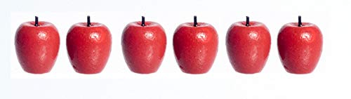 Dollhouse Miniature Red Apples Pkg of 6 ()