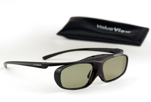 SONY-Compatible ValueView 3D Glasses. Rechargeable. ONE PAIR